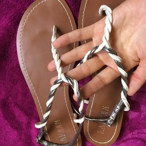 Ralph Lauren leather sandals flip flops